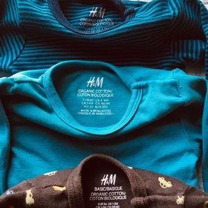 7 HM onesies